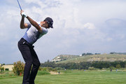 Alvaro Quiros of Spain plays a shot during the first round of the The Rocco Forte Open at the Verdura Gol Resort on May 10, 2018 in Sciacca, Italy.