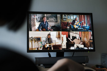 The Rolling Stones People Watch 'One World: Together At Home' In Hong Kong