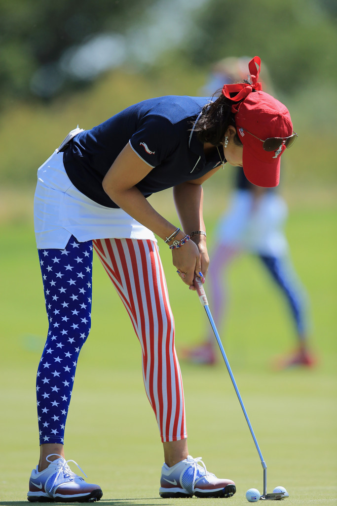 Michelle Wie Photos Photos - The Solheim Cup - Day One