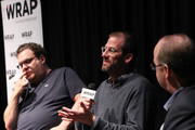 (L-R) Producers Jeff Garlin, Charlie Siskel and Moderator Steve Pond attend TheWrap Screening Series presents 'Finding Vivian Maier' at Landmark Theatre on October 28, 2014 in Los Angeles, California.