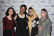 Kainat Riaz, Shazia Ramzan, Yara Eid and Jamira Burley attend Theirworld's annual international woman's day breakfast on March 07, 2019 in London, England.  International Women's Day, next-generation youth campaigners inspire women from across the globe to protect schools from attack and break down barriers to girls' education.