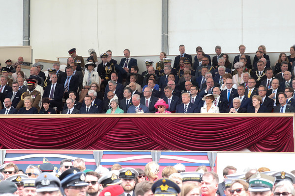 British D-Day Commemoration In Portsmouth [event,crowd,social group,team,community,audience,competition,president,elizabeth ii,charles,governor-general,prime minister,commemoration,british,portsmouth,new zealand,d-day]