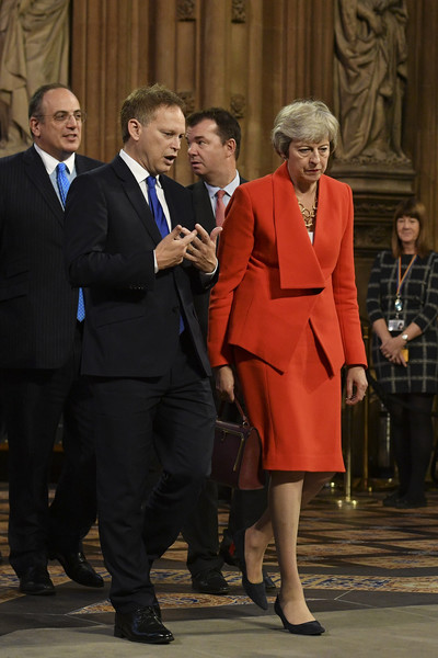 State Opening Of Parliament [event,suit,formal wear,outerwear,gesture,tuxedo,theresa may,grant shapps,mp,r,plans,britain,conservative,l,state opening of parliament,talks]