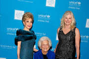 (L-R) Presenter Margaret Alkek Williams, honoree Barbara Bush and honorary chair Mica Mosbacher attend the UNICEF Audrey Hepburn Society Ball honoring former first lady Barbara Bush at the Hilton Americas Hotel on November 6, 2015 in Houston, Texas.