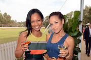 Actors Garcelle Beauvais and Dania Ramirez attend the Third Annual Veuve Clicquot Polo Classic at Will Rogers State Historic Park on October 6, 2012 in Pacific Palisades, California.