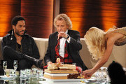 "Lenny Kravitz, Thomas Gottschalk and Michelle Hunziker attend the 199th ""Wetten dass...?"" show at the Rothaus Hall on December 3, 2011 in Friedrichshafen, Germany. After 24 years host Thomas Gottschalk terminates today his career as ""Wetten dass...?"" moderator."