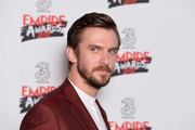 Presenter of the award for Best Actress, Dan Stevens poses in the winners room at the THREE Empire awards at The Roundhouse on March 19, 2017 in London, England.