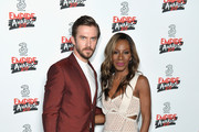 Actor Dan Stevens (L) and Director Amma Asante pose in the winners room at the THREE Empire awards at The Roundhouse on March 19, 2017 in London, England.