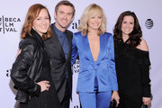 """(L-R) Actors Kerry Bishé, Dan Stevens, Malin Akerman and Liza J. Bennett attend the """"The Ticket"""" Premiere during the 2016 Tribeca Film Festival at SVA Theatre 2 on April 16, 2016 in New York City."""
