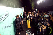 A view of the red carpet at Tiffany & Co. Celebrates 2018 Tiffany Blue Book Collection, THE FOUR SEASONS OF TIFFANY at Studio 525 on October 9, 2018 in New York City.