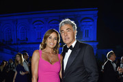 Cristina Parodi and Massimo Giletti attend Tiffany & Co. celebration of the opening of its new store in Rome at  at Villa Aurelia on May 11, 2016 in Rome, Italy.