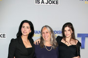 (L-R) Sarah Silverman, Susan Silverman, and Aliza Rose Silverman attend Tiffany Haddish Black Mitzvah at SLS Hotel on December 03, 2019 in Beverly Hills, California.