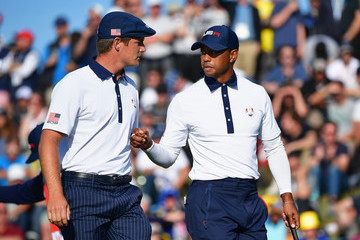 Tiger Woods Bryson DeChambeau 2018 Ryder Cup - Afternoon Foursome Matches