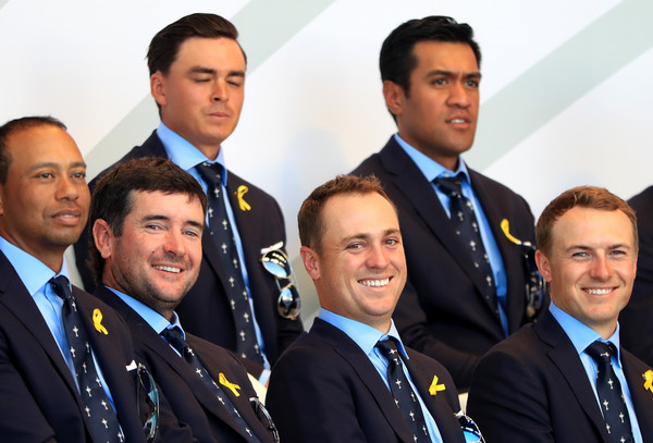 2018 Ryder Cup - Opening Ceremony [event,team,official,uniform,management,businessperson,white-collar worker,business,employment,crew,united states,paris,france,le golf national,ceremony,ryder cup,opening ceremony,justin thomas,bubba watson,jordan spieth]
