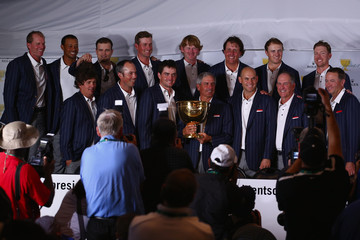 Tiger Woods Steve Stricker The Presidents Cup: Final Round
