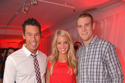 (L-R) David Bromstad, Lauren Tannehill and Ryan Tannehill attend the TigerDirect.com And Intel's Holiday Tech Bash on November 20, 2012 in Miami, Florida.