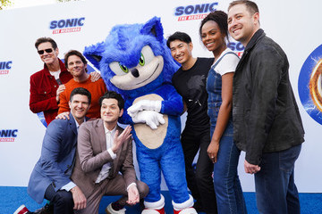 Tika Sumpter Jeff Fowler Sonic The Hedgehog Family Day Event - Red Carpet