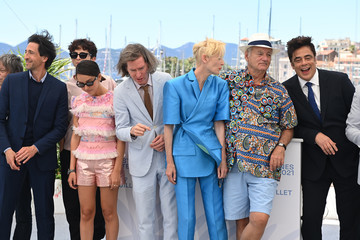 """Tilda Swinton Adrien Brody """"The French Dispatch"""" Photocall - The 74th Annual Cannes Film Festival"""
