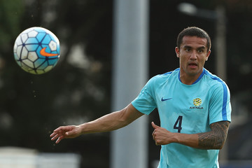Tim Cahill Australian Socceroos Training Session