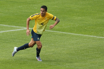Tim Cahill Socceroos Training Session