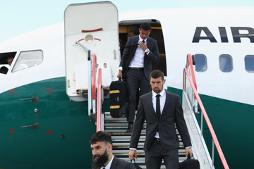 Tim Cahill Australian Team Arrive In Russia For The 2018 World Cup