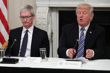 Tim Cook President Trump Hosts American Technology Council Roundtable