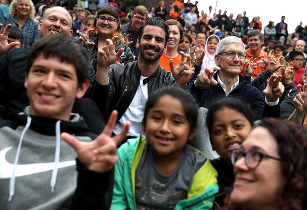 Apple CEO Tim Cook Visits California School For The Deaf In Fremont, California