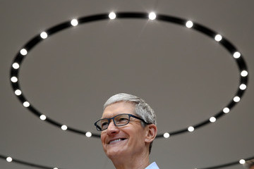 Tim Cook Apple Holds Product Launch Event At New Campus In Cupertino