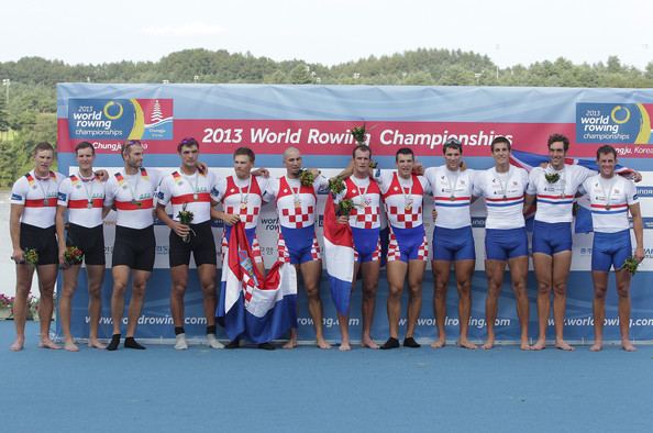 2013 World Rowing Championships - Day 7 [team,championship,recreation,competition event,technology,crew,competition,sports,peterlambert,silver,gold,gernamy,world rowing championships,final,paul heinrich,karl schulze,tim grohmann,lauritz schoof]