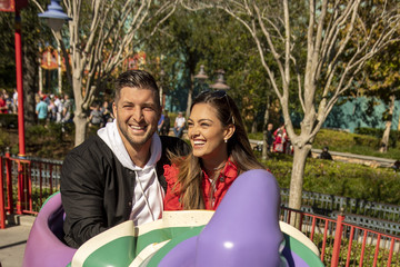 Tim Tebow Demi-Leigh Nel-Peters Tim Tebow And Fiancè Demi-Leigh Nel-Peters Celebrate At Walt Disney World