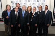 Tom Bernard, Michael Barker, Penn Jillette, Tim Jenison, Farley Ziegler, Raymond Teller, Peter Adam Golden and Glenn Alai attend the 'Tim's Vermeer' premiere during the 51st New York Film Festival at The Film Society of Lincoln Center, Walter Reade Theatre on October 3, 2013 in New York City.