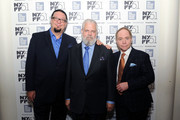 Penn Jillette, Tim Jenison and Raymond Teller attend the 'Tim's Vermeer' premiere during the 51st New York Film Festival at The Film Society of Lincoln Center, Walter Reade Theatre on October 3, 2013 in New York City.