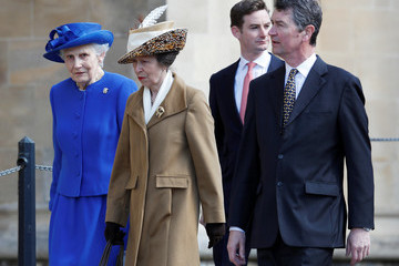 Timothy Laurence The Royal Family Attend Easter Day Service in Windsor