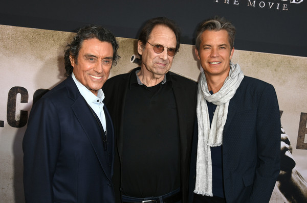 LA Premiere Of HBO's 'Deadwood' - Red Carpet [la premiere,event,fashion,white-collar worker,premiere,red carpet,timothy olyphant,david milch,ian mcshane,l-r,deadwood,california,hbo,premiere]
