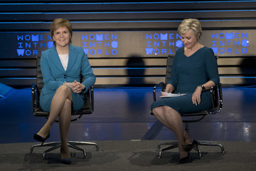 Tina Brown Nicola Sturgeon Addresses The Women In The World Summit In New York