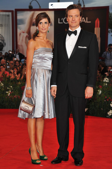 "Actor Colin Firth and Livia Giuggioli attend the ""Tinker, Tailor, Soldier, Spy"" premiere at the Palazzo del Cinema during the 68th Venice Film Festival on September 5, 2011 in Venice, Italy."