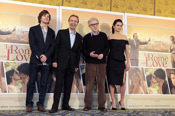 """Woody Allen Jesse Eisenberg """"To Rome With Love"""" - Photocall"""