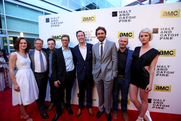 'Halt and Catch Fire' Premieres in Hollywood [halt and catch fire,series,red carpet,carpet,event,premiere,flooring,award,white-collar worker,company,team,tourism,kerry bishe,scoot mcnairy,jonathan lisco,mark johnson,charlie collier,los angeles,amc,red carpet]