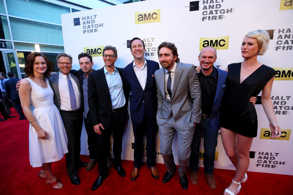'Halt and Catch Fire' Premieres in Hollywood [halt and catch fire,series,red carpet,carpet,premiere,event,flooring,white-collar worker,kerry bishe,scoot mcnairy,jonathan lisco,mark johnson,charlie collier,los angeles,amc,red carpet]