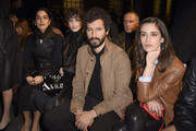 (L-R) Levante, Greta Ferro, Francesco Scianna and Valentina Belle attend the Tod's fashion show on February 21, 2020 in Milan, Italy.