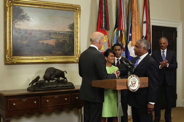 Todd Jones Joe Biden Holds Ceremonial Swearing