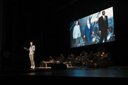 Abby Wambach speaks on stage at Together Live Houston at Lillie & Roy Cullen Theatre on October 17, 2019 in Houston, Texas.