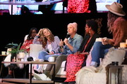 (L-R) Naomi Ekperigin, Glennon Doyle, Abby Wambach, Ashley C. Ford and Ruthie Lindsey speak onstage at Together Live Royal Oak at the Royal Oak Music Theatre on October 24, 2019 in Royal Oak, Michigan.