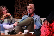 (L-R) Glennon Doyle and Abby Wambach speak onstage at Together Live Royal Oak at the Royal Oak Music Theatre on October 24, 2019 in Royal Oak, Michigan.