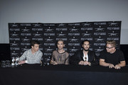 Georg Moritz Hagen Listing, Bill Kaulitz, Tom Kaulitz and Gustav Klaus Wolfgang Schaefer attend the Tokio Hotel Press Conference & Photocall on October 2, 2014 in Berlin, Germany. After a five year break, the new Tokio Hotel record 'Kings Of Suburbia' will be released on October 3.
