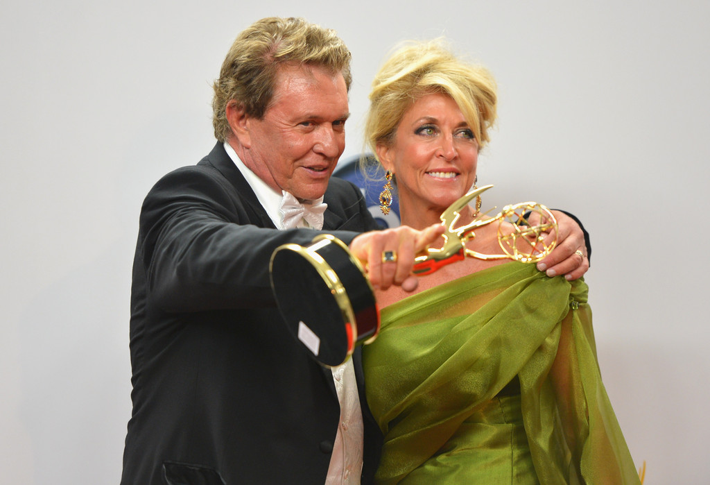 Tom Berenger and Laura Moretti - 64th Annual Primetime Emmy Awards - Press Room