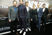 "NEW YORK, NEW YORK - OCTOBER 29 John Krasinski, Tom Alaschicha, Noomi Rapace, Michael Kelly and Jordi Molla attend Tom Clancy's ""Jack Ryan"" season two premiere at Metrograph on October 29, 2019 in New York City."