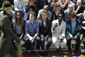Tom Felton Burberry Prorsum SS15: Front Row