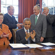 Tom Harkin Barack Obama Signs New Grant Act