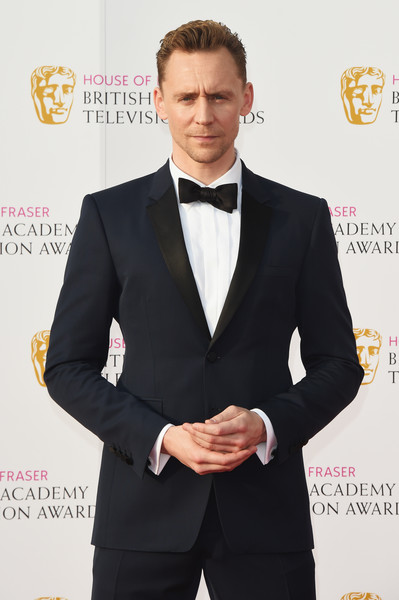 House of Fraser British Academy Television Awards 2016 - Red Carpet Arrivals [suit,formal wear,clothing,tuxedo,white-collar worker,outerwear,blazer,tie,carpet,tom hiddleston,england,london,royal festival hall,house of fraser,british academy television awards]